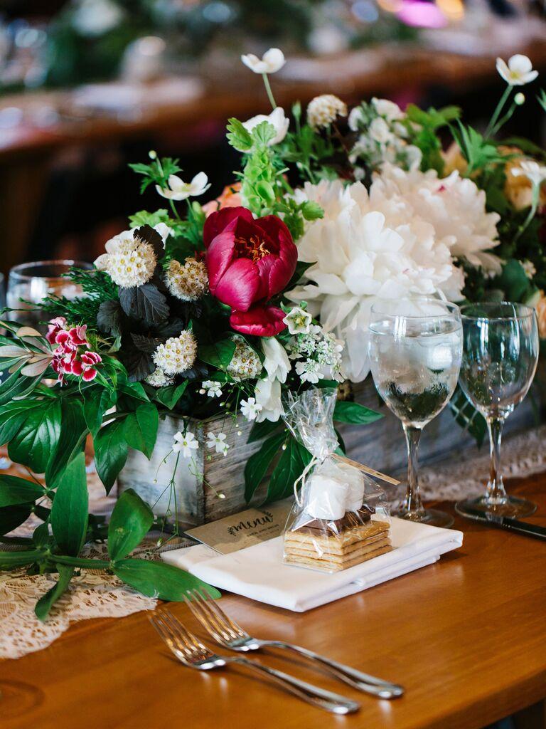 Wedding Centerpieces Wildflowers and Peonies