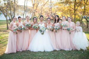Jenny Yoo Blush Bridesmaid Dresses