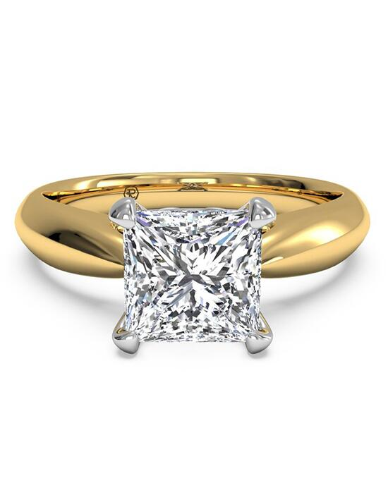 Ritani Solitaire Diamond Cathedral Tapered Engagement Ring - in 18kt Yellow Gold for a Princess Center Stone Engagement Ring photo