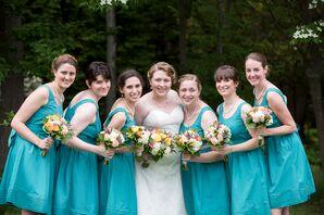 Short Turquoise Bridesmaids Dresses