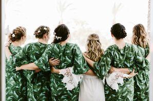 Green Bridesmaid Cover-Ups