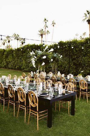 Outdoor Reception at Villa Royale in Palm Springs, California