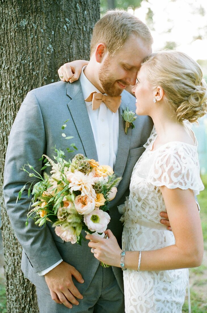 Sarah and Collin exchanged vows in an outdoor ceremony on Sarah's family ranch in Hempstead, Texas. The couple wanted the day to have a subtle country