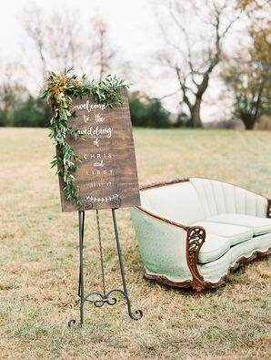Rustic Hand-Lettered Welcome Sign