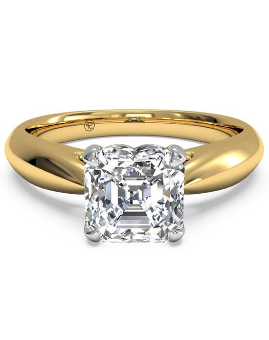 Ritani Solitaire Diamond Cathedral Tapered Engagement Ring - in 18kt Yellow Gold for a Asscher Center Stone Engagement Ring photo