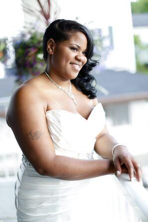 Bridal Wedding Dress and Silver Jewelry