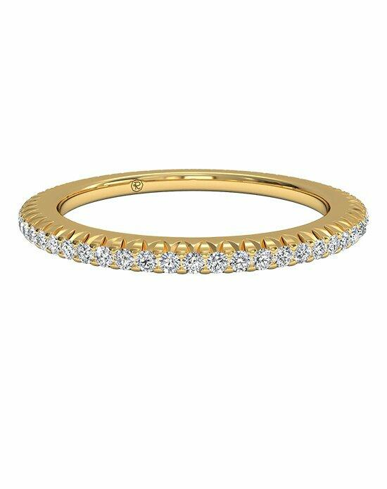 Ritani Women's Open Micropavé Diamond Eternity Wedding Band in 18kt Yellow Gold (0.30 CTW) Wedding Ring photo