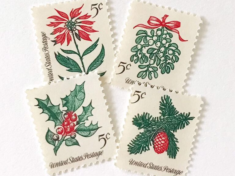 Green and red Christmas greenery and floral designs