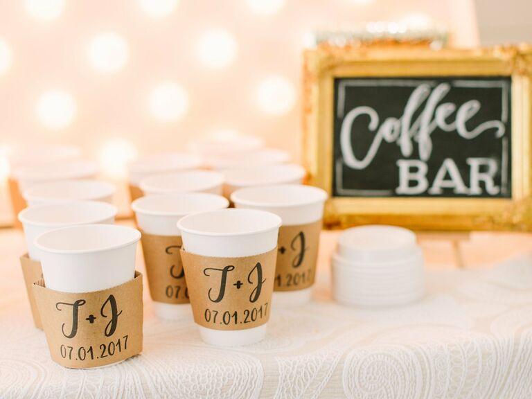 friends themed wedding coffee bar