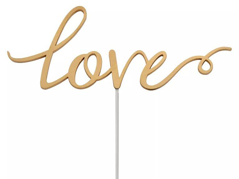 Simple 'love' in gold script