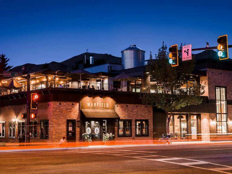 Brewery wedding venue in Ketchum, Idaho.