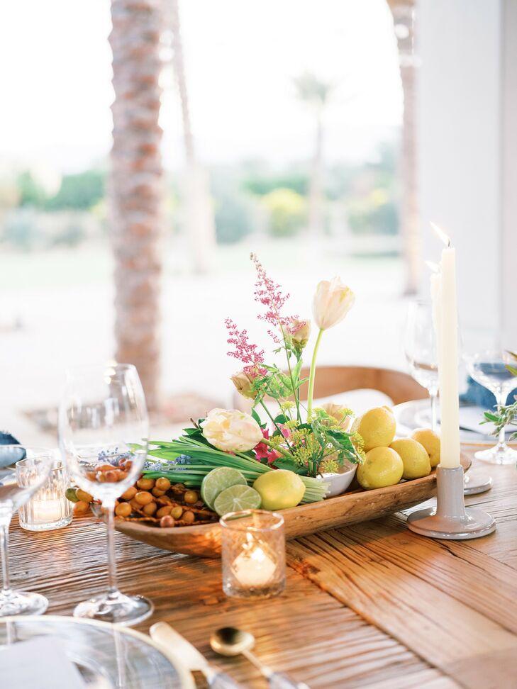 Citrus Centerpiece for Reception in Coachella, California