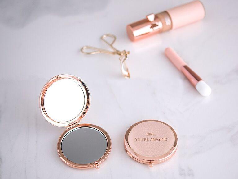 Bridesmaid gift compact mirror