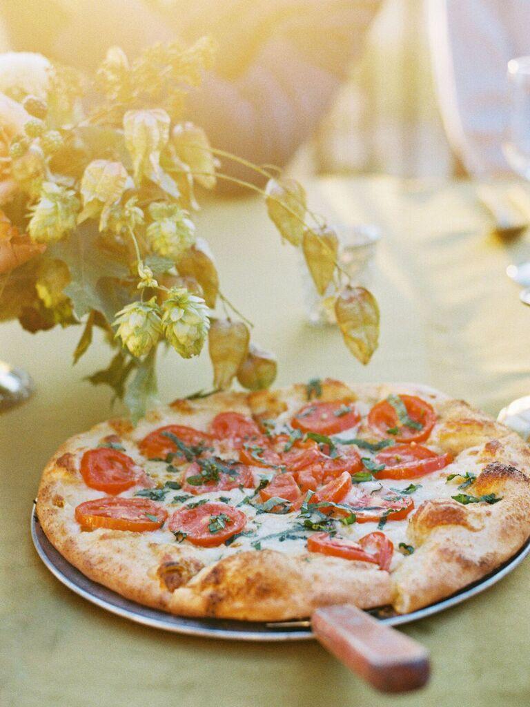 friends themed wedding pizza