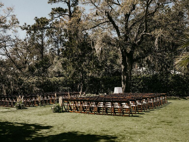 Cottagecore wedding venue outside