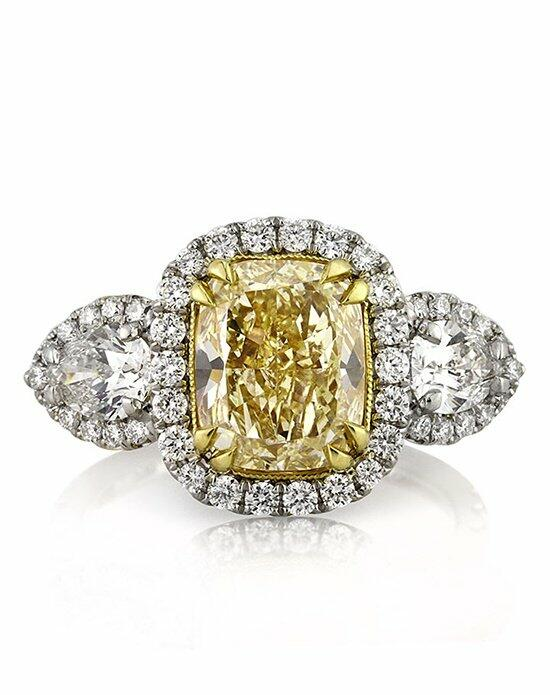 Mark Broumand 4.90ct Fancy Light Yellow Cushion Cut Diamond Engagement Ring Engagement Ring photo
