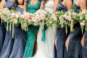 Wedding Party Bouquets for Celebration at The River View at Occoquan in Lorton, Virginia