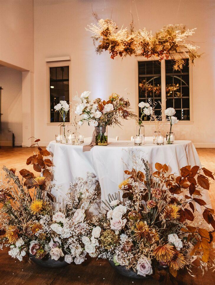 Bohemian, Rustic Floral Arrangements at Wedding in San Diego, California