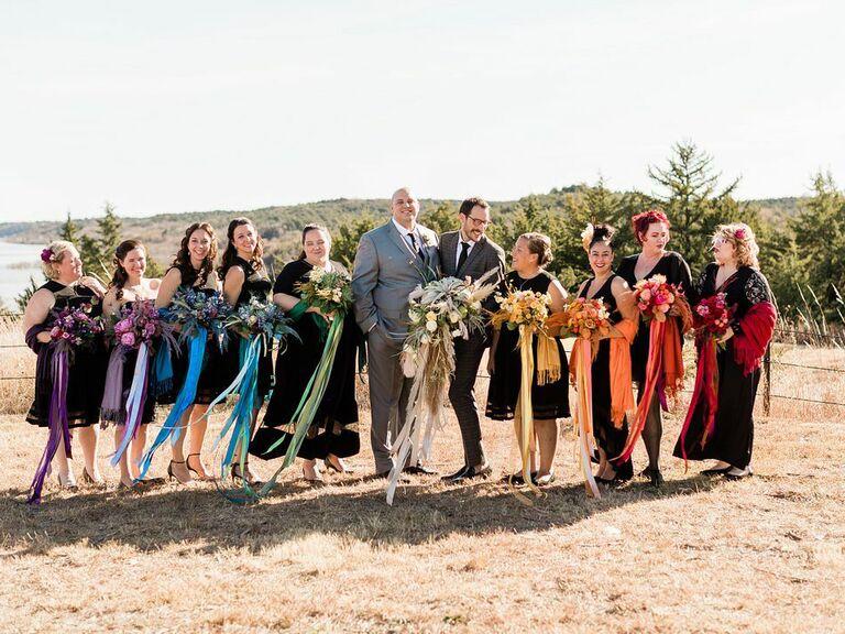 outdoor wedding venues farm over creek