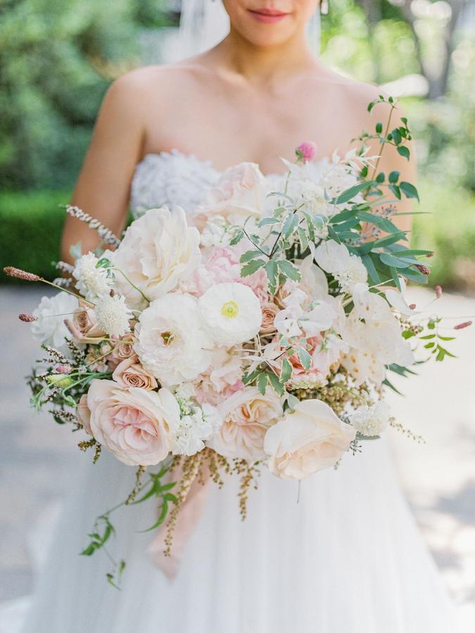 romantic blush-hued bouquet