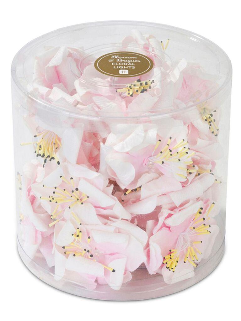Pink floral string lights