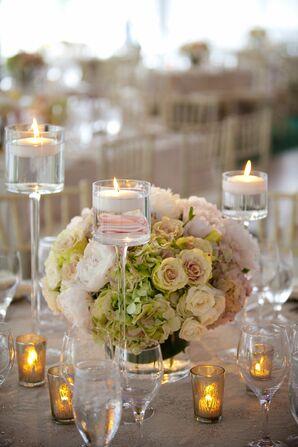 Pink Rose and Hydrangea Centerpiece