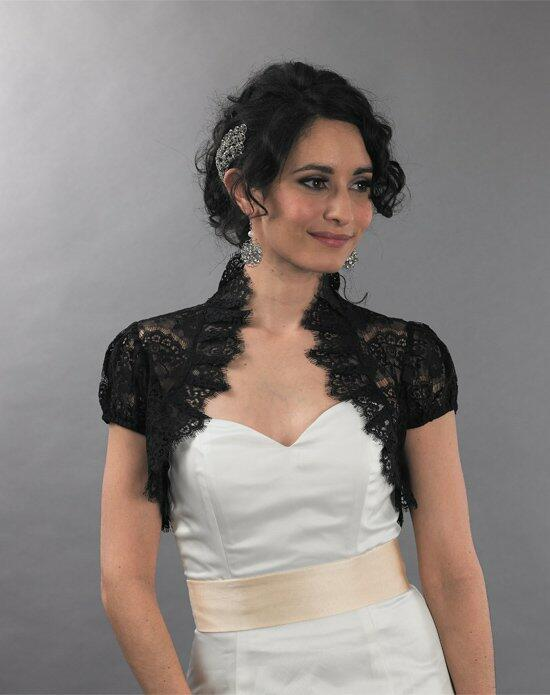 Tulip Bridal Black Lace Bolero Jacket with Ruffles Wedding Jackets photo