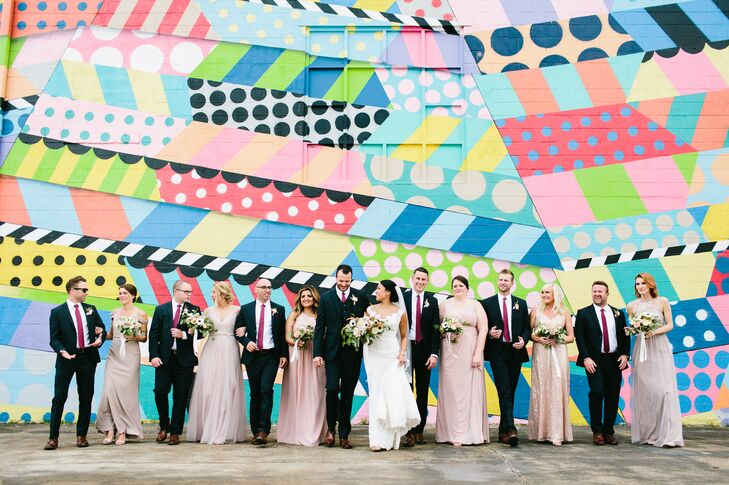 Amy Meiners and Brandon Deaton put a Nashville-centric twist on their romantic, contemporary wedding with a menu and music that exuded Music City vibe