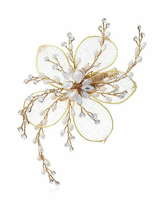 Thomas Laine Carmel Clip on Flower with Freshwater Pearl Wedding Pins, Combs + Clips photo