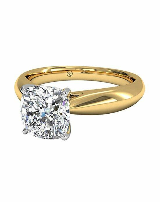 Ritani Cushion Cut Solitaire Diamond Tapered Engagement Ring with Surprise Diamonds in 18kt Yellow Gold (0.04 CTW) Engagement Ring photo