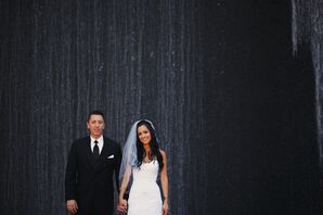 Bride and Groom at Their Summer Wedding in Aliso Viejo