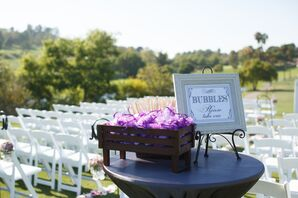 Bubbles for Guests to Blow During Outdoor Recessional