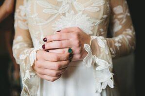 Emerald and Black Diamond Engagement Ring