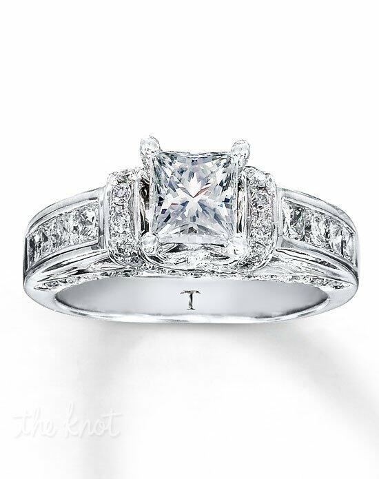 Tolkowsky Diamond Engagement Ring 1 3/8 ct tw Princess-cut 14K White Gold-990740805-990740805 Engagement Ring photo