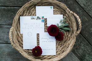 Custom Gus & Ruby Letterpress Wedding Invitations