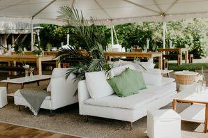 Tropical Tented Receptionat Castle Park in Michigan