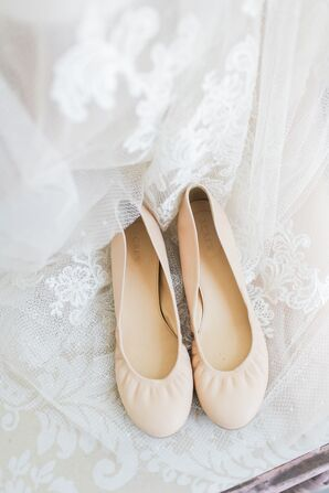 Blush Bridal Ballet Flats
