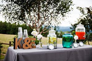 Pre-Ceremony Refreshment Table