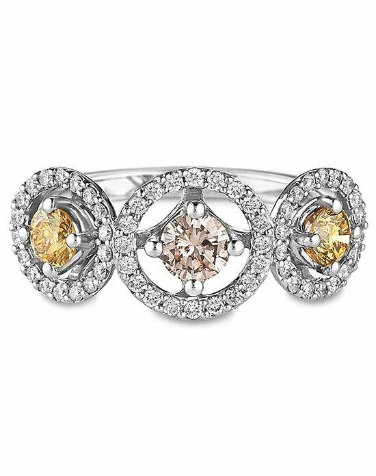 Ritani Three-Stone Halo Fancy Pink and Yellow Diamond Engagement Ring in 18kt White Gold (1.11 CTW) Engagement Ring photo