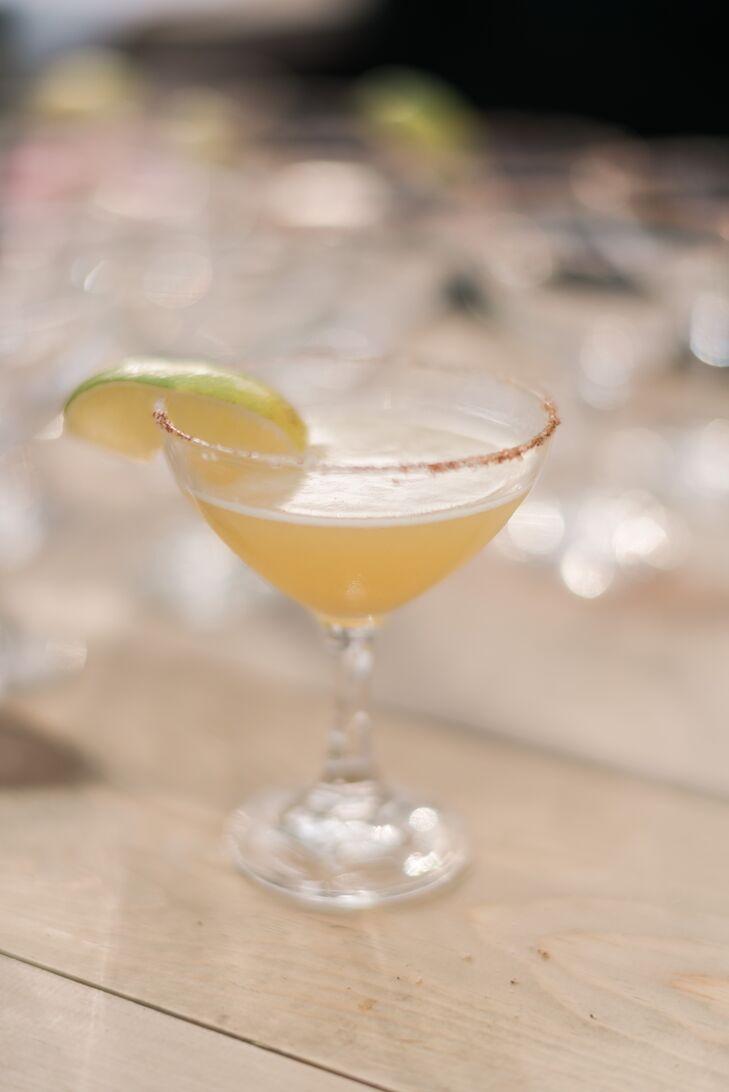 Spicy Margaritas in Vintage Cocktail Glasses
