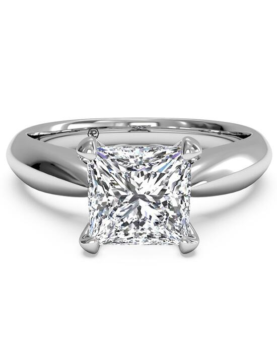 Ritani Solitaire Diamond Cathedral Tapered Engagement Ring - in 14kt White Gold for a Princess Center Stone Engagement Ring photo