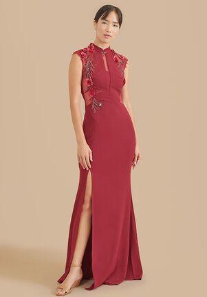 East Meets Dress Wine Red Marilyn Dress Sheath Wedding Dress