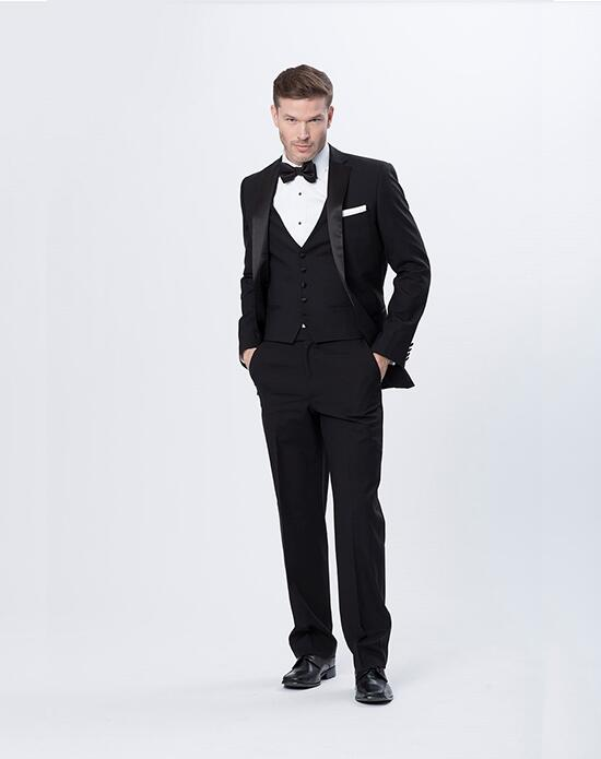 Justin Alexander Men Justin Alexander Black Tux Wedding Tuxedos + Suit photo