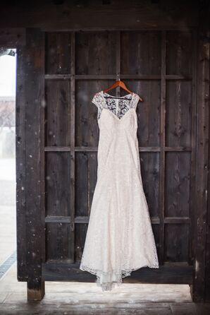 An Elegant BHLDN Lace Wedding Dress