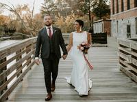 wedding season couple holding hands