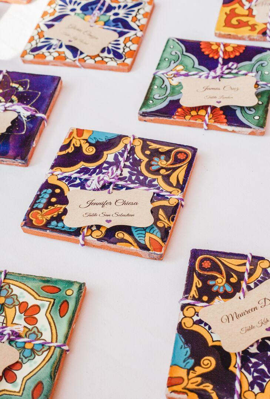 Vibrant Mexican Tile Favors