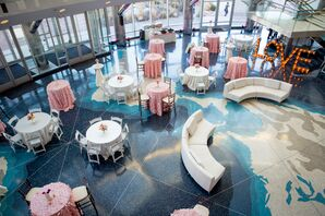 Pink and Ivory Formal Reception Hall