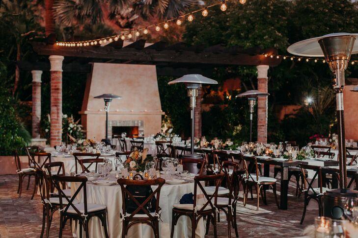 Courtyard Reception at Scottsdale, Arizona, Wedding