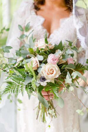 Soft Bouquet of Roses, Anemones, Ranunculus and Greenery