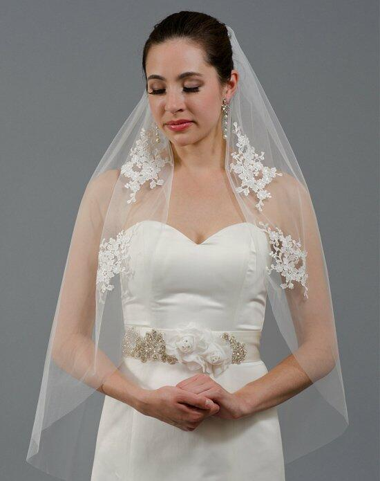 Tulip Bridal Wedding Veil with Venice Lace Appliques Wedding Veils photo